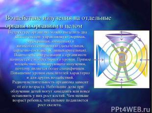 Воздействие излучения на отдельные органы и организм в целом В структуре организ