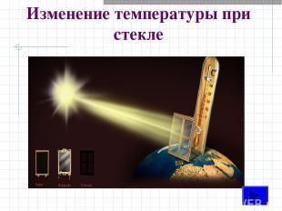 Изменение температуры при стекле