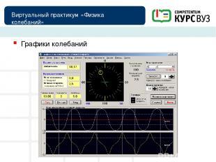 Виртуальный практикум «Физика колебаний» Графики колебаний