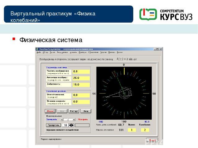 Виртуальный практикум «Физика колебаний» Физическая система