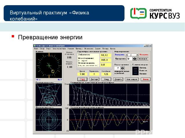 Виртуальный практикум «Физика колебаний» Превращение энергии