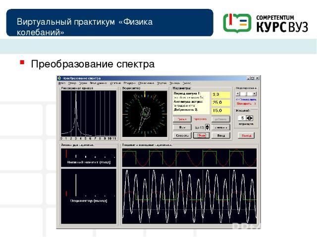 Виртуальный практикум «Физика колебаний» Преобразование спектра