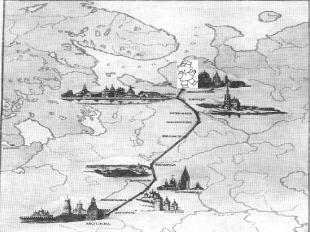 Путь Ломоносова в Москву