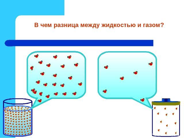 В чем разница между жидкостью и газом?