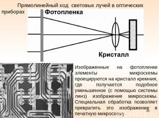 Прямолинейный ход световых лучей в оптических приборах Изображенные на фотопленк