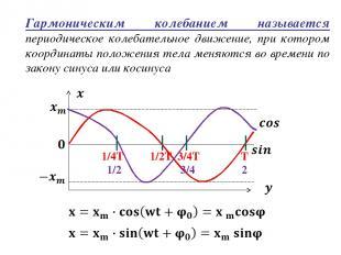 Гармоническим колебанием называется периодическое колебательное движение, при ко