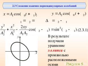 2.3 Сложение взаимно перпендикулярных колебаний ; (2.3.1) В результате получили