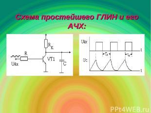 Схема простейшего ГЛИН и его АЧХ: