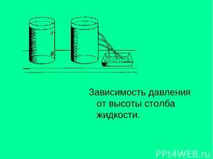 Зависимость давления от высоты столба жидкости.