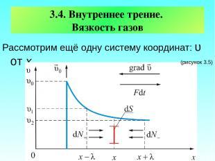 3.4. Внутреннее трение. Вязкость газов Рассмотрим ещё одну систему координат: υ