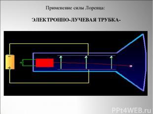 ЭЛЕКТРОННО-ЛУЧЕВАЯ ТРУБКА- Применение силы Лоренца: