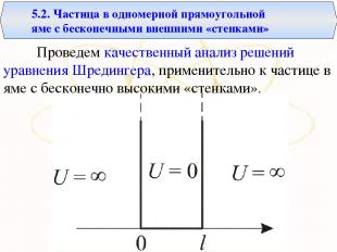 Проведем качественный анализ решений уравнения Шредингера, применительно к части