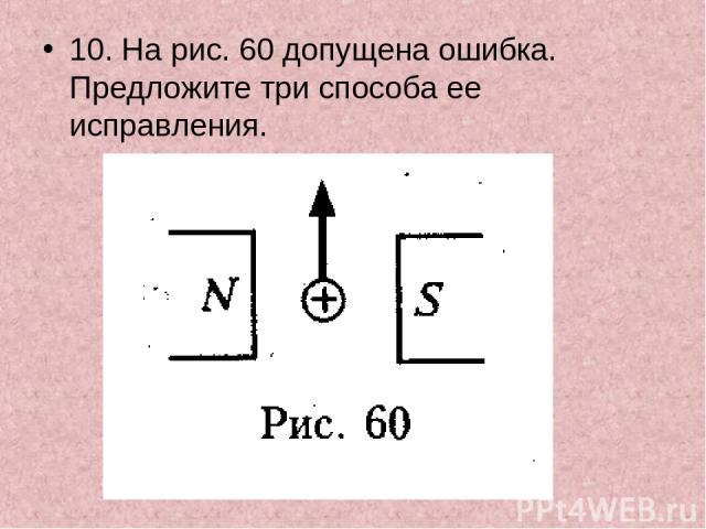 10. На рис. 60 допущена ошибка. Предложите три способа ее исправления.
