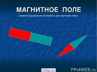МАГНИТНОЕ ПОЛЕ (демонстрационные материалы для изучения темы) 900igr.net