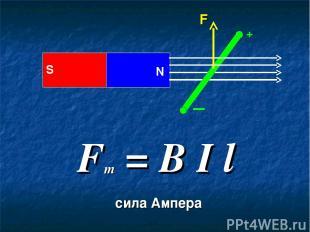+ S N F = B I l m сила Ампера F