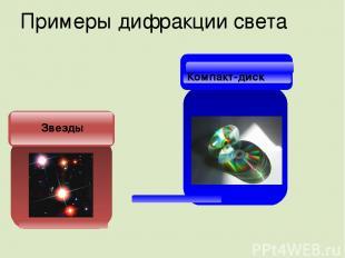 Примеры дифракции света Звезды Компакт-диск