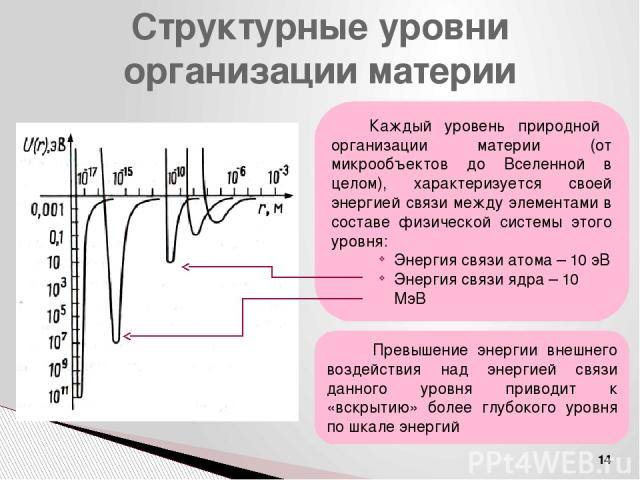 Фундаментальные взаимодействия Гравитационное Электромагнитное Слабое Сильное Гравитон ? (G) Фотон (γ) Векторные бозоны Глюон (g) Все частицы Все заряженные частицы Все частицы, кроме фотона Адроны Существование мегамира Существование макромира β-ра…