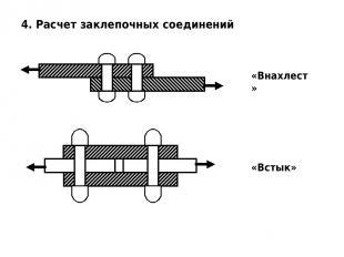 4. Расчет заклепочных соединений «Внахлест» «Встык»