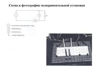 Схема и фотография экспериментальной установки