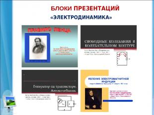 БЛОКИ ПРЕЗЕНТАЦИЙ «ЭЛЕКТРОДИНАМИКА»