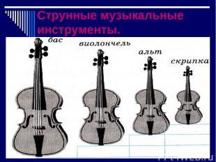 Струнные музыкальные инструменты.