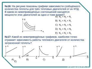 №17: Какой из нижеприведённых графиков, наиболее точно отражает зависимость рабо