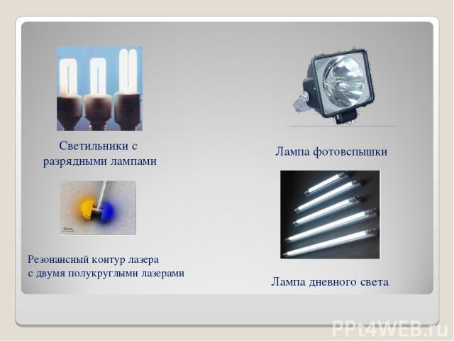 Лампа фотовспышки Светильники с разрядными лампами Лампа дневного света Резонансный контур лазера с двумя полукруглыми лазерами