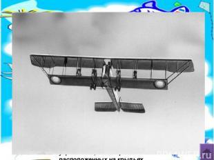Биплан – самолёт со сдвоенными крыльями, т.е.два крыла расположены одно над друг