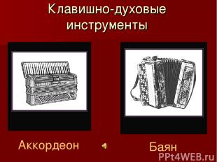 Клавишно-духовые инструменты Аккордеон Баян