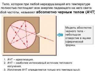 Тело, которое при любой неразрушающей его температуре полностью поглощает всю эн