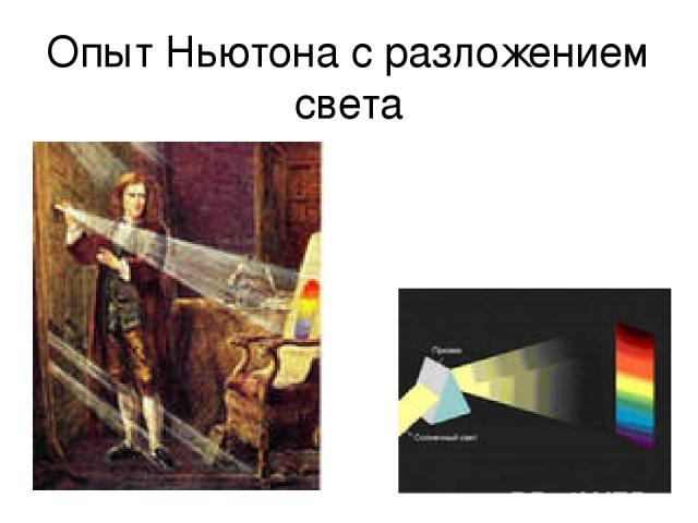 Опыт Ньютона с разложением света