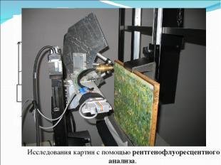 электронно-лучевой микрозонд Исследования картин с помощью рентгенофлуоресцентно