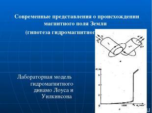 Современные представления о происхождении магнитного поля Земли (гипотеза гидром