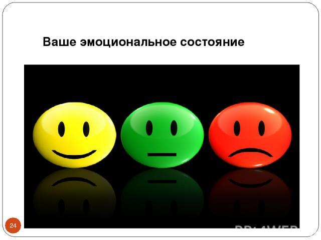 Ваше эмоциональное состояние *