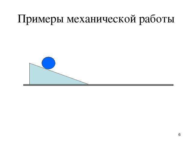 * Примеры механической работы