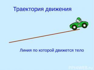 Траектория движения Линия по которой движется тело
