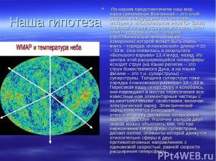 Наша гипотеза По нашим представлениям наш мир, наша трехмерная Вселенная – это с
