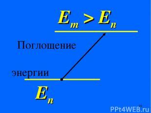 Еn Em > En Поглощение энергии *