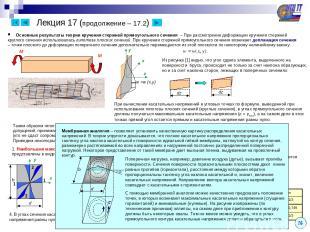 Лекция 17 (продолжение – 17.2) Основные результаты теории кручения стержней прям