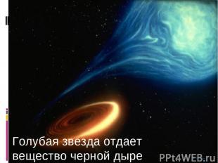 Голубая звезда отдает вещество черной дыре