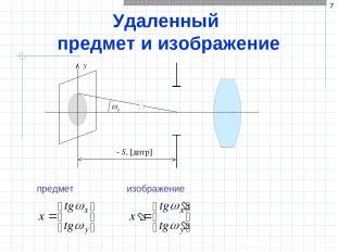* Удаленный предмет и изображение y y - S, [дптр] предмет изображение