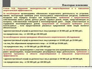 Некоторые изменения в Кодекс РФ об административных нарушениях Статья 9.16. Нару