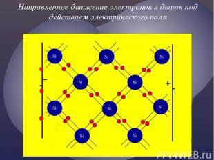 Направленное движение электронов и дырок под действием электрического поля