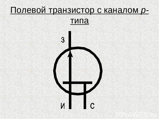 Полевой транзистор с каналом p-типа
