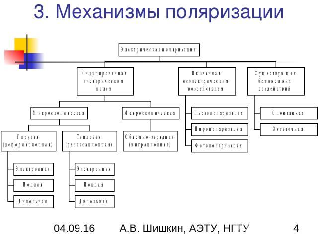 3. Механизмы поляризации А.В. Шишкин, АЭТУ, НГТУ