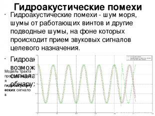 Гидроакустические помехи Гидроакустические помехи - шум моря, шумы от работающих