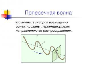 Поперечная волна это волна, в которой возмущения ориентированы перпендикулярно н