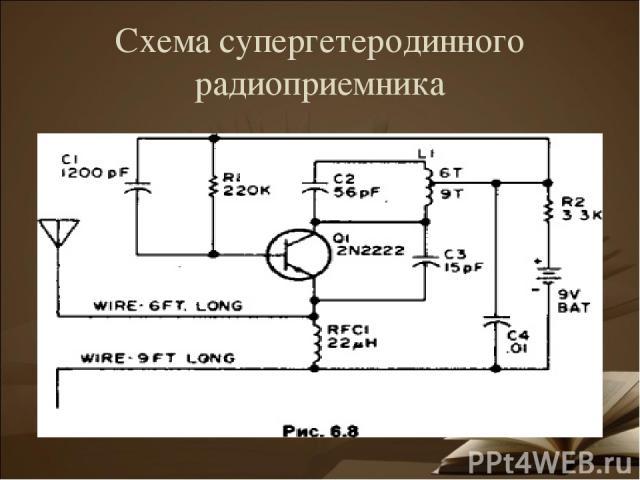 Схема супергетеродинного радиоприемника