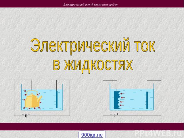 Электрический ток в различных средах 900igr.net