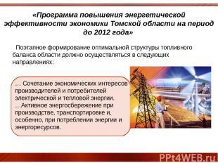 «Программа повышения энергетической эффективности экономики Томской области на п